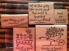 Stampin Up Sm Wood Mount Stamp Sets Rare Retired You Choose A-w