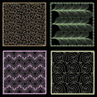 Quilting Backgrounds 2 -4inch- 10 Machine Embroidery Designs Cd Free Shipping