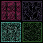Rose Quilting Backgnds -4inch -12 Machine Embroidery Designs Cdfree Shipping