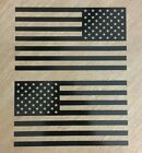 American Flag Sticker Decal Mirrored - Custom Vinyl Die Cut Graphic Fits Jeep