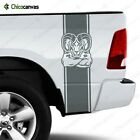 Dodge Ram 1500 2500 3500 Hemi Rear Truck Bed Decal Racing Vinyl Stripes Sticker