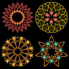 Autumn Symmetry Quilt - 4 Inch -10 Machine Embroidery Designs Cd Free Shipping