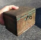 Antique Old Middle Eastern Islamic Arab Copper Locking Tea Caddy Spice Box Chest