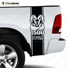 Dodge Ram 1500 Hemi 5.7 L V8 - Rear Truck Bed Decal Racing Vinyl Stripes Sticker