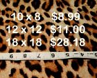 Real Fur Leather Hair On Cow Hide 6 - 18 Sheet Leopard Print Remnants Animal