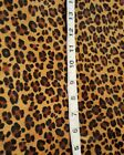 Mini Leopard Real Hair On Cow Hide 6 - 18 Sheet Print Remnants Animal