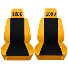 Front Customized Seat Covers For A Chevrolet Silverado Embroidered Seat Covers