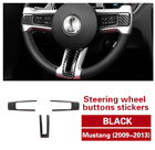 3pcs Real Carbon Fiber Steering Wheel Sticker Decal For Ford Mustang 2009-2013