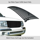 Fits 1998-2000 Toyota Tacoma Black Billet Grille Grill Insert