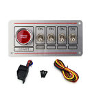 12v Toggle Race Car Carbon Ignition Switch Panel Engine Start Push Button Led