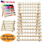 60120 Spool Wooden Sewing Thread Rack Stand Embroidery Cone Holder Organizer U