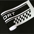 2x Racing Plaid Hood Side Door Fender Skirt Stripes Decal Stickers For Sport Car