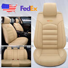 Universal Auto Car Suv Standard 5-seat Pu Leather Seat Covers Cushion Frontrear