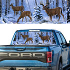 Tint Rear Window Graphic Decal Deer Family In The Snow Forest