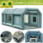Inflatable Spray Booth 26ft Portable Garage Automotive Spray Booth With 2 Blower