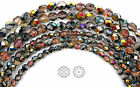 Czech Fire Polished Round Faceted Glass Beads Crystal Santander Coated 16strand