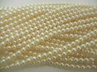 Czech Round Glass Imitation Loose Pearls Cream Ivory Nacre Pearl Color