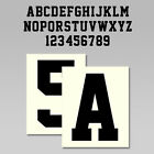 Custom Iron On Heat Transfer One Letter Or Number Team Sports Font 20 Colors