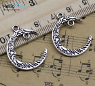 Wholesale Lot Retro Style Lovely Moon God Face Alloy Charms Pendant Diy 26x21mm