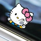 M S Hello Kitty Climb Hit Window Glass Funny Truck Car Stickers Wall Decals