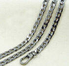 New 20-120cm Flat Chain For Handbag Or Strapping Bag Black A3