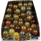 Wholesale Agate Gemstone Loose Beads 4mm 6mm 8mm 10mm Round Stone Jewelry Diy