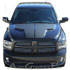 2009-2017 Dodge Ram Hemi Hood Solid Blackout 3m Pro Vinyl Graphic Decals Stripes