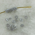 200pcs 4mm Goldsliver Plated Tiny Daisy Metal Spacer Beads
