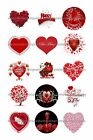 Red Valentine 1 Circles Bottle Cap Images. 2.45-5.50  Free Shipping