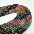 Natural Watermelon Tourmaline Gemstone Smooth Round Loose Beads 4mm5mm6mm7mm