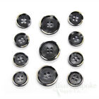 Set Of Dark Gray Modern Burnt-edge Suit Buttons Made In Italy