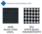 67-72 Chevygmc Std Cab Front Bench Seat Upholstery Vinylhoundstooth Cloth