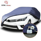 Yitamotor Multi Size Car Cover Peva Waterproof All Weather Protection Dark Blue