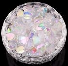 Wholesale 200pcs Ab Color Acrylic Heart-shaped Spacer Beads For Jewelry 89 Mm