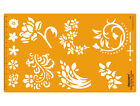 Floral Template Art Craft Drafting Stencil Symbols Technical Drawing Scale