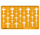 Cross Template Shapes Symbols Drawing Drafting Stencil -jewellery Pattern Design