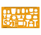 Architectural Sanitary Template Plumbing Fixtures Architect Drafting Stencil