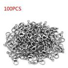 100pcs Metal Lobster Clasp Jewelry Bead Findings Clasp Snap Clip Hooks Connector