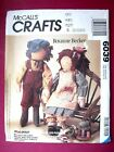 Mccalls Oop Crafts Sewing Pattern Stuffed Animals Bears Birds Dolls You Pick