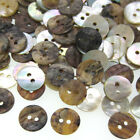50pcs Natural Shell Mother Of Pearl Buttons 2 Hole Fit Crafts Sewing Accessories