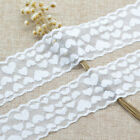5 Yards White Elastic Stretch Lace Trim Ribbon Sewing Fabric Diy Decor Crafts