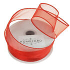 Sheer Organza Plain Ribbon Wired Edge 10 Yards