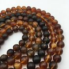 Baltic Amber Smooth Round Gemstone Loose Beads 689mm 15.5 Long