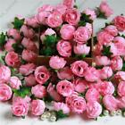 100x Roses Artificial Silk Flower Heads Party Wedding Home Decor Wholesales Lots
