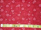 Joann Cotton Fabrics Glittery Hearts Pink Red Bty Valentines Day Fabric