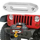 For Jeep Tj Yj 97-06 Black Front Bumper Abs Mesh Grille Universal Fairlead
