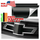 Matte Vinyl Wrap For Chevy Bowtie Emblem Overlay Diy Sticker Decal Sheet Film