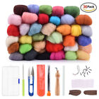 Diy Needles Felting Starter Kit Set Handcraft Tools 36 Color Wool Fibers Roving