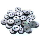 9mm Black Mother Of Pearl Buttons Natural Shell Buttons Black Iridescent 2 Holes