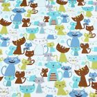 One Pcs Cotton Fabric Pre-cut Cotton Fabric For Sewingcartoon Cat